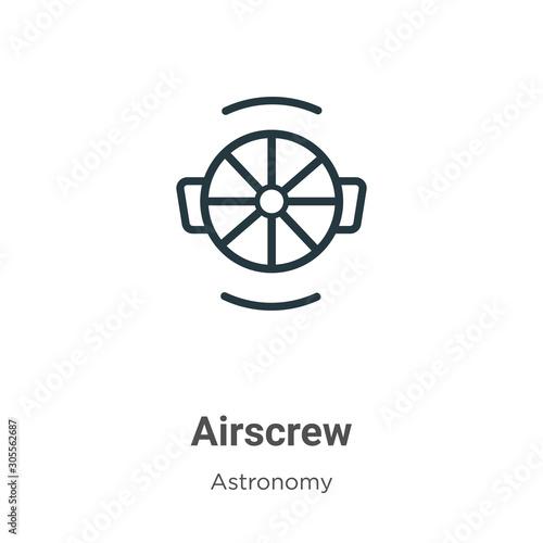 Airscrew outline vector icon Canvas Print
