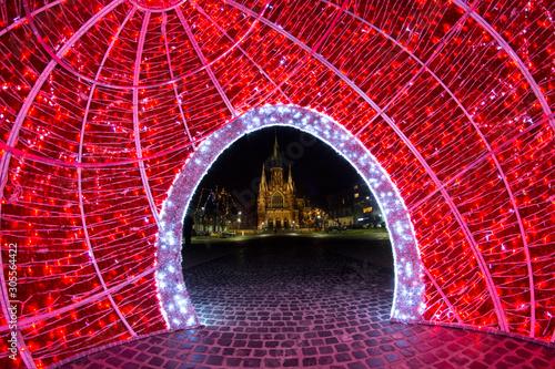 Fototapeta Boże Narodzenie, świąteczny wystrój miasta, Kraków, Polska obraz