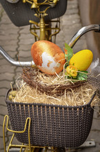 Easter Eggs In Vintage Bicycle...