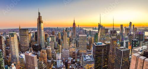 New York City Manhattan midtown buildings skyline in 2019