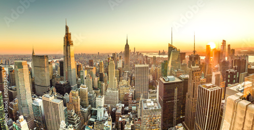 New York City Manhattan midtown buildings skyline in 2019