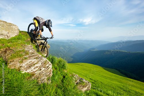 A man is riding bicycle Wallpaper Mural