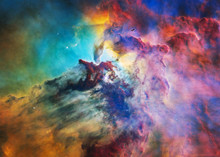The Lagoon Nebula In Bright Co...
