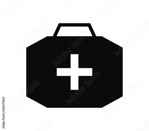 medical suitcase icon Wallpaper Mural