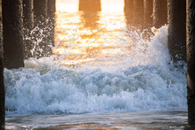 Waves Crashing Under The Pier ...