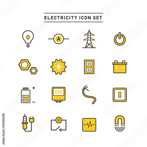 ENERGY ICON SET Wallpaper Mural