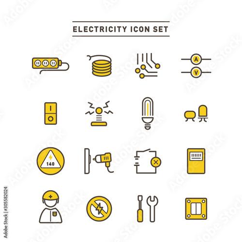ENERGY ICON SET Wallpaper Mural