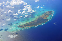 Aerial View Of The Caribbean I...