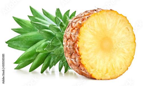 Fototapeta Ananas  ananas-na-bialym-tle-sciezka-przycinajaca-dojrzaly-ananas