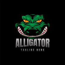 Alligator Crocodile Logo Vector Icon Illustration