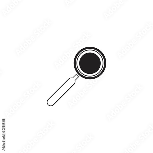 Fototapeta Magnifying glass icon vector illustration - vector obraz na płótnie