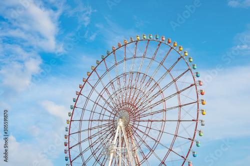 Fototapeta Famous colorful ferris wheel in Odaibo Tokyo, Japan obraz