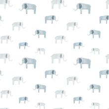 Lovely Elephants Seamless Patt...