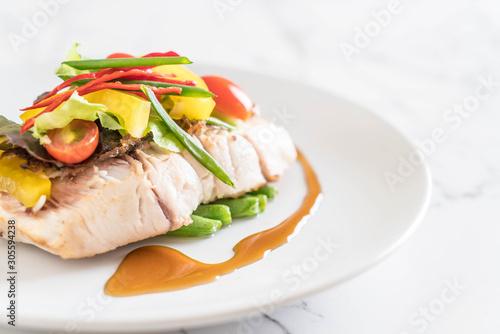 Fototapeta snapper fish steak obraz