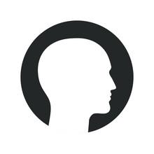 Silhouette Male Head Graphic I...
