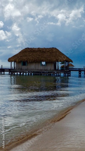 Belize house on stilts Canvas Print