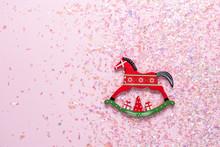 Christmas Toy Of Rocking Horse...
