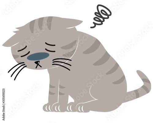 元気のない猫 病気 ペット Canvas Print