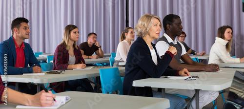 Fototapeta Adult students on training session