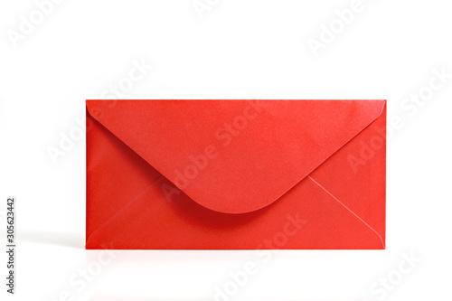 Cuadros en Lienzo Red envelope on white background