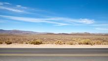 Desert Road Landscape In Death...