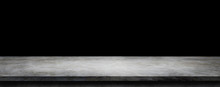Empty Space Of Plaster Concrete Shelf Table Grunge Texture Background For Use Display Product.