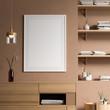 Mock up poster frame in Scandinavian style interior with modern furnitures. Minimalist interior design. 3D illustration.