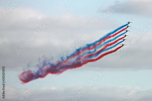 Show des avions de la Patrouille de France Canvas-taulu