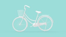 3d Rendering Of A Bicycle Isol...