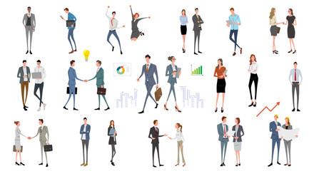 Illustration material: people, business scene, fashion