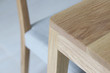 Close up wooden furniture, Oak wood Chair, Furniture detail for interior