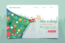 Landing Page With Santa Clause...