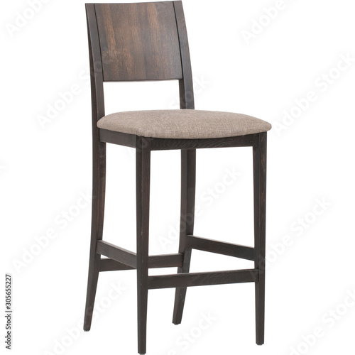 Woodlands Bar Stool with white background,HENRIKSDAL Bar stool with backrest, Ba Canvas Print