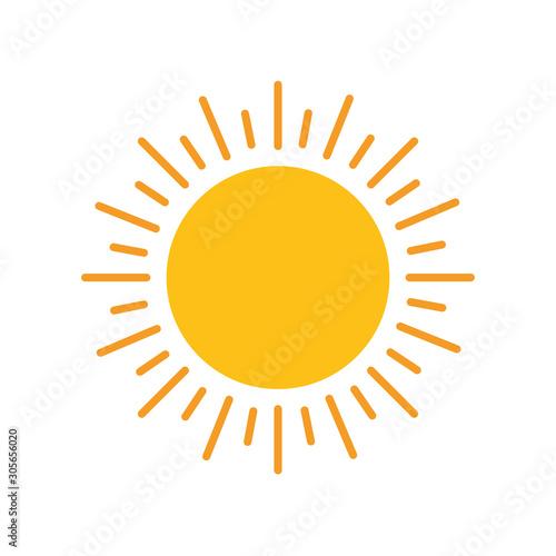 sun hot flat style icon Wall mural