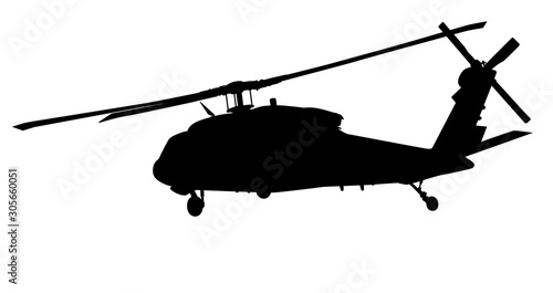 Fotomural Helicopter vector silhouette