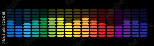 Sound wave equalizer vector design Canvas Print