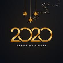 Golden 2020 Happy New Year Vec...
