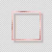 Transparent Golden Pink Frame Shadow1