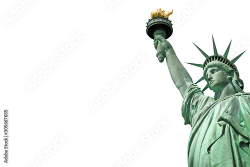 Tela Close up of the Statue of Liberty in New York, USA