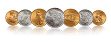 US Silver Gold Dollar Coins Money