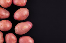 Red Potatoes Black Background ...