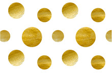 Polka Dot From Gold Texture, V...