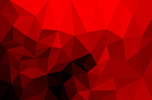 Black And Red  Polygonal Trian...