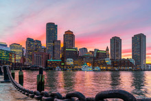 Boston Skyline And Fort Point ...