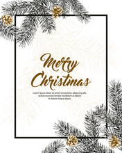 Christmas Holiday Frame With P...