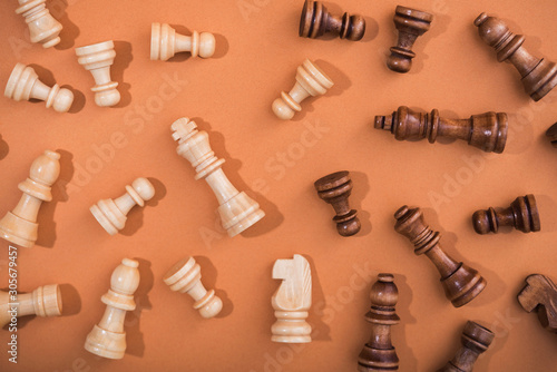 Cuadros en Lienzo  Wooden chess pieces
