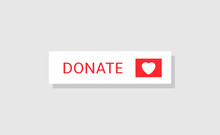 Donate Button Icon. Red Button With White Heart For Your Website, Philanthropy, Charity And Volunteering Symbol Web Design Element
