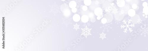 sfondo, elegante, argentato, natale, fiocchi di neve Wallpaper Mural