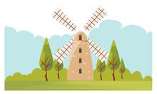 Montefiore Windmill Israel Iso...