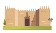 The Gates Of Jerusalem Architecture Vector